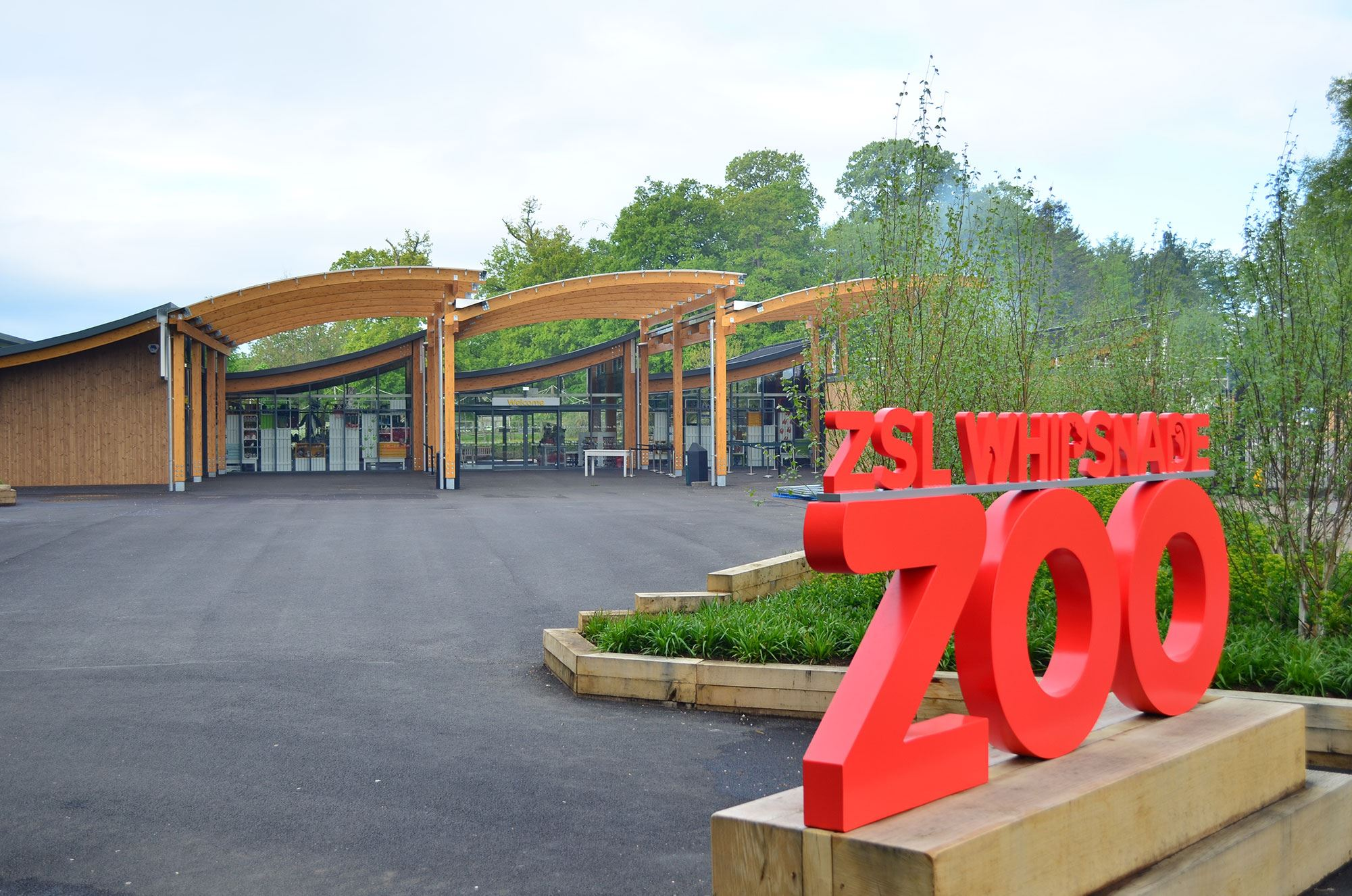 Butterfly and Crocodile Enclosure and Zoo Entrance, Dunstable
